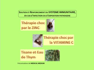 Renforcement SYSTÈME IMMUNITAIRE (infection/exposition pathogène)